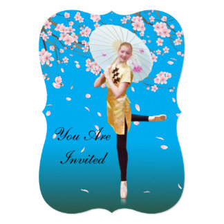 Convite, considerando da dança, bailarina, convite 12.7 x 17.78cm