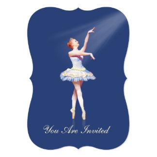 Convite, considerando da dança, bailarina em