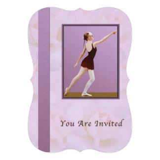 Convite considerando da dança balé