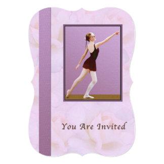 Convite, considerando da dança, balé convite 12.7 x 17.78cm