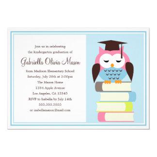Convite cor-de-rosa/azul da festa de formatura da