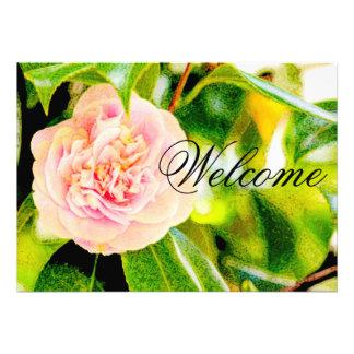 Convite cor-de-rosa boa vinda do sonho 5x7 da