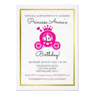 Convite cor-de-rosa chique da princesa Primeiro