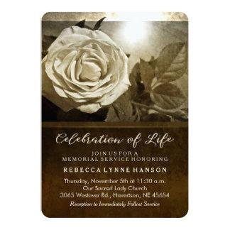 Convite cor-de-rosa da cerimonia comemorativa da