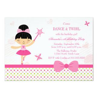Convite cor-de-rosa da festa de aniversario de