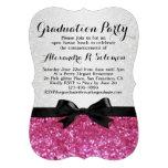 Convite cor-de-rosa da festa de formatura do arco