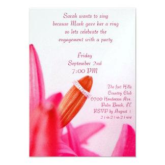 Convite cor-de-rosa da festa de noivado