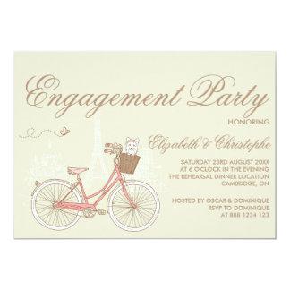 Convite cor-de-rosa da festa de noivado da