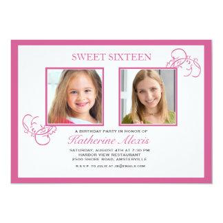 Convite cor-de-rosa da foto de Pinkest