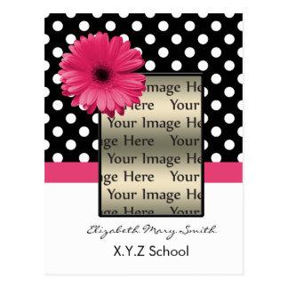 convite cor-de-rosa da graduação da foto da