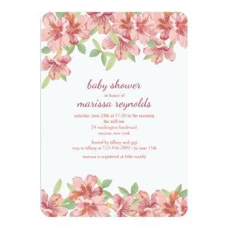 Convite cor-de-rosa das azáleas