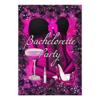 Convite cor-de-rosa de Bachelorette da celebração