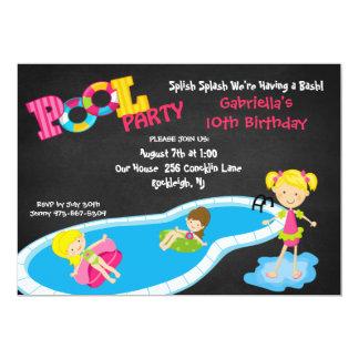 Convite cor-de-rosa do aniversário da festa na