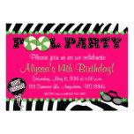 Convite cor-de-rosa do aniversário da festa na pis
