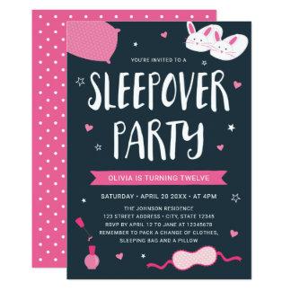 Convite cor-de-rosa do aniversário do partido do