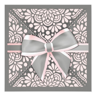 Convite cor-de-rosa do arco