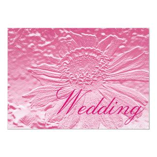 Convite cor-de-rosa do casamento do recife da flor