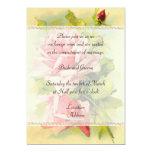 Convite cor-de-rosa do casamento do vintage convite 12.7 x 17.78cm