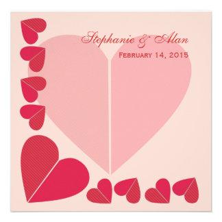 Convite cor-de-rosa do casamento dos namorados dos