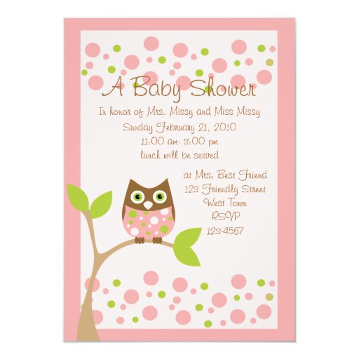 Baby Shower Invitations Owl Theme was beautiful invitations template