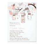 Convite cor-de-rosa do chá de fraldas dos frascos