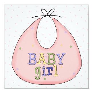 Convite cor-de-rosa do chá do bebé do babador