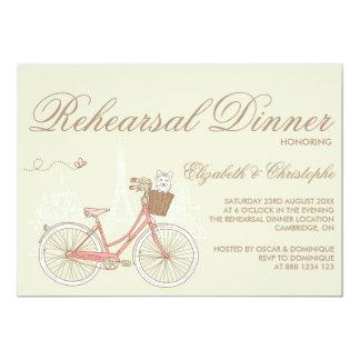 Convite cor-de-rosa do jantar de ensaio da