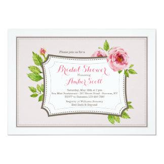 Convite cor-de-rosa do quadro 2 da peônia