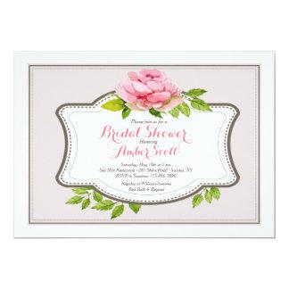 Convite cor-de-rosa do quadro 3 da peônia