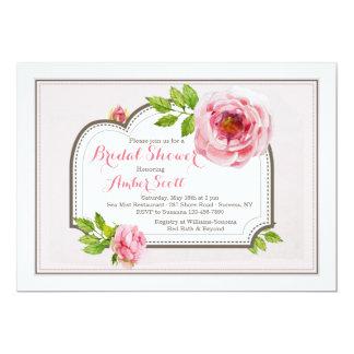 Convite cor-de-rosa do quadro 4 da peônia