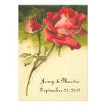 Convite cor-de-rosa do vintage