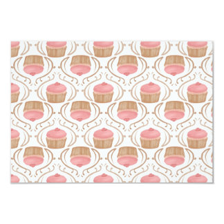Convite cor-de-rosa dos cupcakes de Champagne da Convite 8.89 X 12.7cm