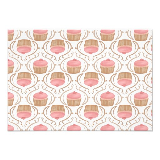 Convite cor-de-rosa dos cupcakes de Champagne da m