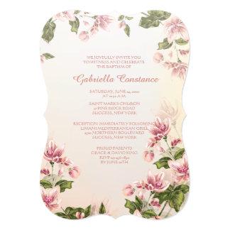 Convite cor-de-rosa dos Dogwoods