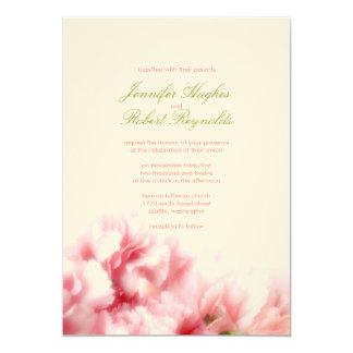 Convite cor-de-rosa formal do casamento