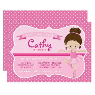Convite cor-de-rosa triguenho do aniversário da
