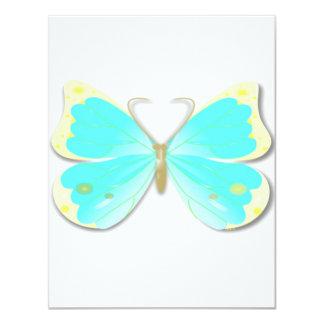 Convite cortado borboleta