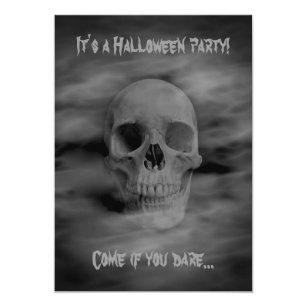 Convite Crânio espectral do partido do horror do Dia das