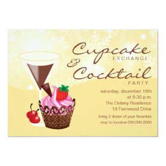 Convite-creme da troca & do cocktail do cupcake