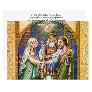 Convite cristão católico tradicional do casamento