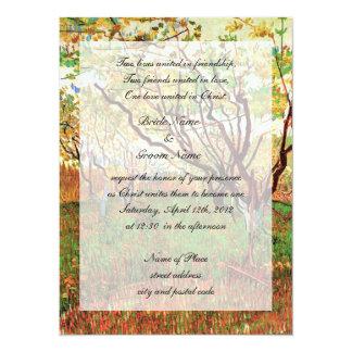 Convite cristão do casamento