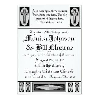 Convite cristão formal do casamento