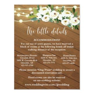 Convite Custom for Client (JONG) Wedding Details 5.5x4.25