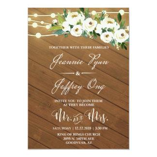 Convite Custom for Client (JONG) Wedding Invitations 5 x 7