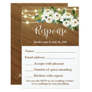 Convite Custom for Client (JONG) Wedding RSVP card