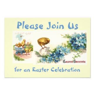 Convite customizável da celebração da páscoa