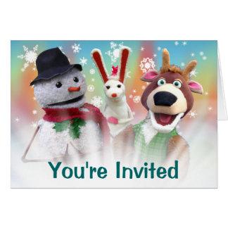Convite customizável da festa de Natal