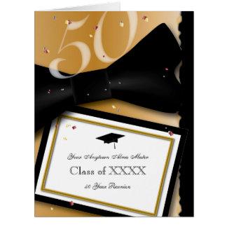Convite customizável da reunião de classe de 50 cartão comemorativo grande