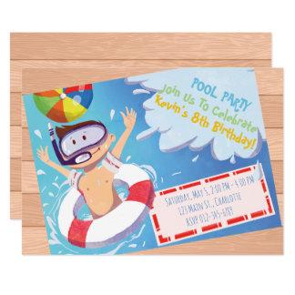 Convite customizável do aniversário da festa na