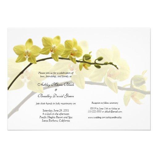 Convite customizável do casamento das orquídeas am